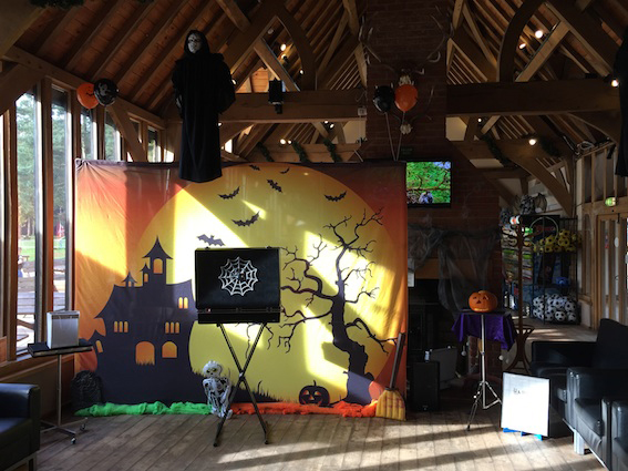 halloween show stage set up